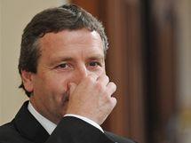 Soud v korupční kauze Kvapila a Novotného, na snímku (vpředu) Radovan Novotný ( 27. srpen 2010)