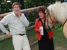 Jana Boušková a Václav Vydra nejraději tráví čas u koní