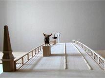 Vizualizace nové podoby Tyršova mostu. Oficiální zahájení stavby je už v úterý.