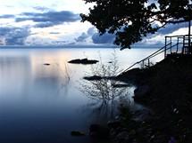 Africká nálada aneb jezero Malawi večer těsně před bouřkou