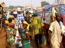 Afrika, Benin, ruch trhu