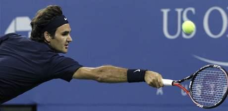 Roger Federer v 1. kole US Open 2010