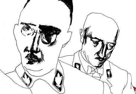Kresba Borise Jirků z předsádky knihy Poslední promítač ze Sudet