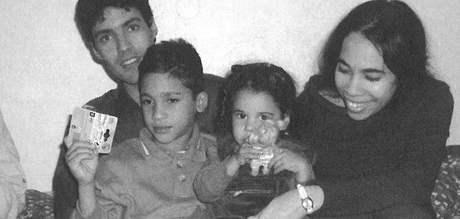 Mayda Argüelles del Pino a Liuver Saborit Morales utekli z Kuby a své děti spatřili po dvou letech až v lednu 2005.