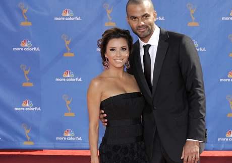 Předávání cen Emmy - Eva Longoria Parker a její manžel Tony Parker