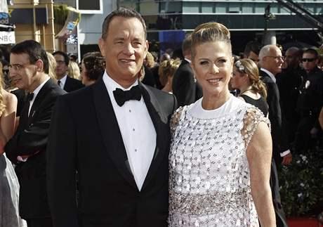 Předávání cen Emmy - Tom Hanks a Rita Wilson