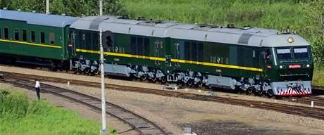 Vlak Kim Čong-ila cestuje Čínou