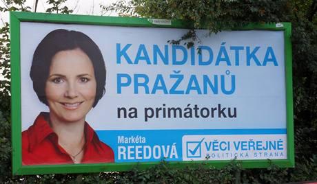 Billboard Věcí veřejných před volbami v Praze na podzim 2010-