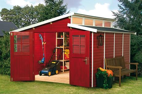 Zahradní domek Evolution 3,21 x 3,15 m s podlahou je vyroben ze smrkového dřeva o tl. 9 mm