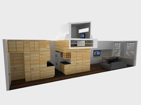 Vizualizace bytu od designérského studia JPDA