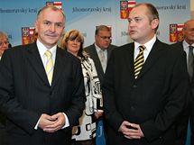 Podpis koaliční smlouvy mezi ČSSD a KDU-ČSL (Michal Hašek a Stanislav Juránek)