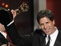 Steven Levitan s cenou Emmy pro seri�l Modern Family (29. srpna 2010)