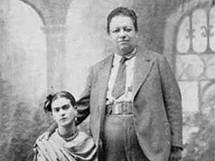 Diego Rivera s Fridou Kahlo na svatebn� fotografii z 19. srpna 1929