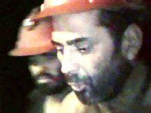Zavalení chilští horníci poslali na zemský povrch další videozáznam. (30. srpna 2010)