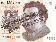 Diego Rivera na nov� mexick� bankovce.