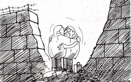 Význam Německého Michla se po pádu komunismu nově aktualizoval. Na karikatuře Waltera Hanela se setkává probuzený Michl z východu se svým západním dvojčetem v troskách berlínské zdi.