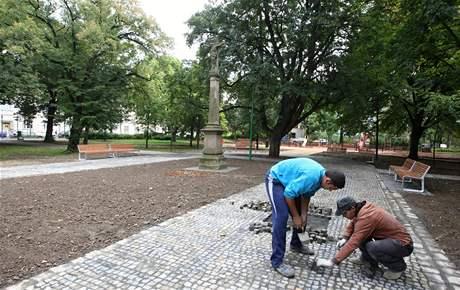 Opravený park v Kroměříži