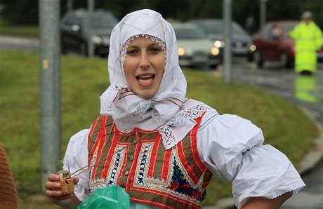 Jihomoravským dožínkám letos počasí nepřálo, i tak je do Brna přijelo shlédnout přes čtyři tisíce lidí.