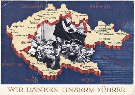 Sudety děkují svému Vůdci, podzim 1938; ilustrace ke kapitole Sen o životě bez Němců