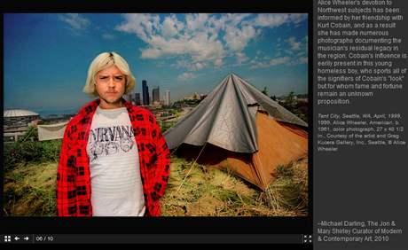 Z výstavy Kurt v americkém Seattlu