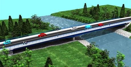 Takhle bude podle autorů projektu vypadat nový most v Bašce.