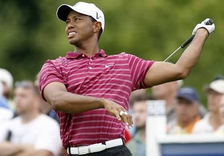 Tiger Woods, první kolo Deutsche Bank Championship 2010.