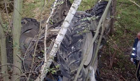 Tragická nehoda traktoru v bývalém lomu na Chrudimsku