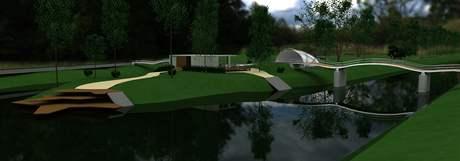 Vizualizace obnovy zeleného centra v Semilech.