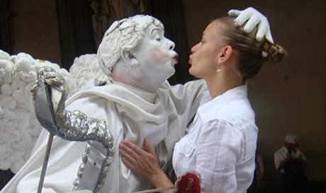 Vladivojna La Chia, oživlá socha Amora ve Florencii