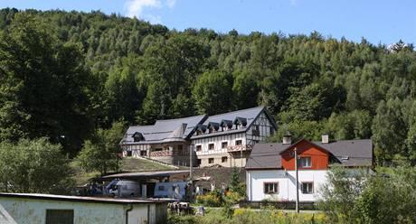 Penzion, který si v Ludvíkově na Bruntálsku staví Jaroslav Palas.
