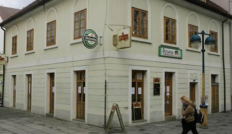 Pizzérie U Źáby, jejíž provozovatelé se soudí s českobudějovickou radnicí o výpověď z nájmu