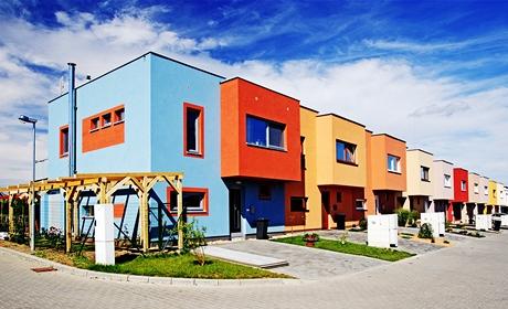 Řadové domy odlišují výrazné barvy