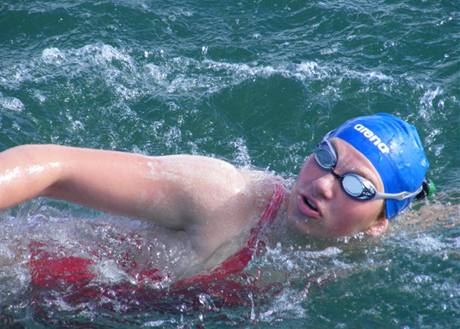 Lanka Štěrbová během pokusu přeplavat kanál La Manche