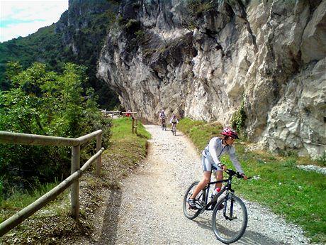 Lehký úsek na Riva Del Gardou