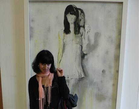 Návštěvnice u obrazu Dragany Živanovičové