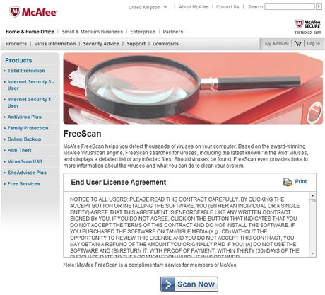 McAfee FreeScan