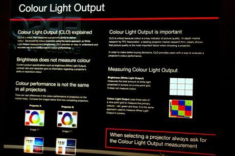 Colour Light Output - Epson upozorňuje zákazníky na to, že by se při výběru projektoru měli řídit nejen svítivostí a kontrastem, ale také barevným výstupem (CLO)