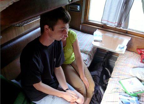 Kupé ve vlaku do Kyjeva