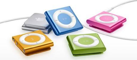 Nové přehrávače iPod shuffle
