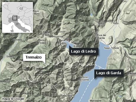 mapka - Tremalzo, Lago di Garda