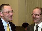 Pavel Severa (vlevo) a Jaroslav Kopřiva na archivním snímku