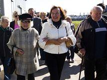 Livia Kausová při otevření produkčních zahrad Pražského hradu poro veřejnost