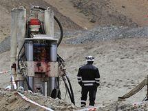 V chile pokračují práce na záchraně 33 uvázlých horníků (2. srpna 2010)
