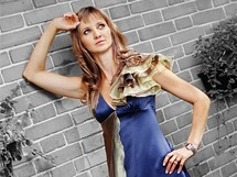 Silvie Církvová v modelu Zuzany Bottkové v roli modelky