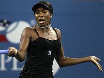 MODEL Č. 1. Venus Williamsová zahájila tenisové US Open v černém.