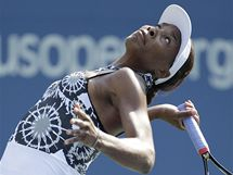 MODEL Č. 2. Venus Williamsová na tenisovém US Open opět předvedla módní kreace.