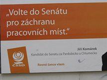 Předvolební kampaň Jiřího Komárka