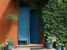 Domovní dveře v modré