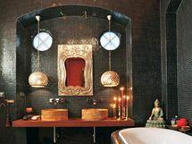 I koupelna nezapře styl celého bytu
