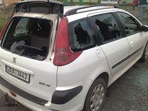Rozmlácené auto šéfa Věcí veřejných v Horním Slavkově Milana Půty